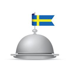 sweden flag dinner platter vector image vector image