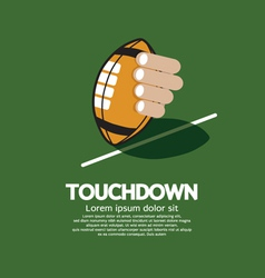 Touch down american football vector