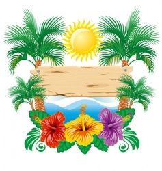 tropical label vector image vector image