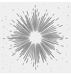 Vintage monochrome starburst vector image vector image