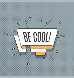 be cool retro design element in pop art style on vector image vector image