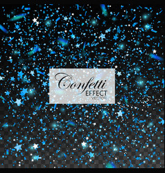 blue glittering star dust vector image vector image