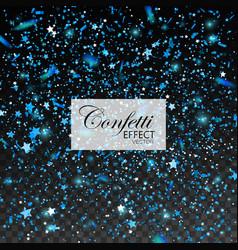 blue glittering star dust vector image