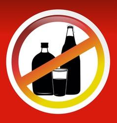 No Drink sign vector image vector image