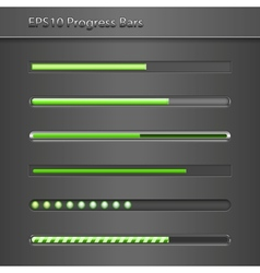 Progress Bars vector image