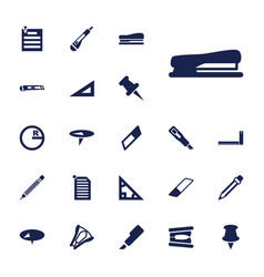 22 stationery icons vector