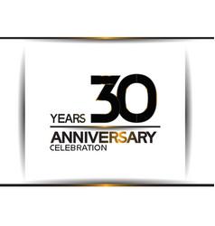 30 years anniversary black color simple design vector