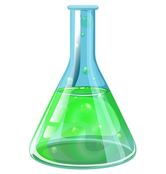 A laboratory flask vector image
