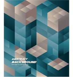 Abstract Isometric cube Background Business Design vector
