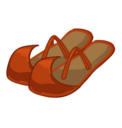 ancient pair shoes egyptian footwear vector image