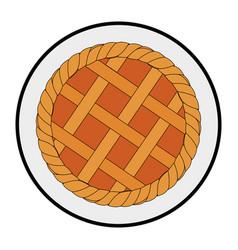Apple pie icon vector