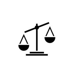 attorney law scale icon design template vector image