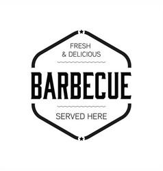 barbecue sign vintage stamp black vector image