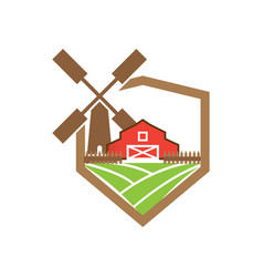 barn logo design template vector image