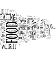 Be in the zone with the right food plan text word vector