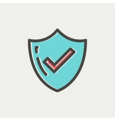 Bestseller Guaranteed badge thin line icon vector image