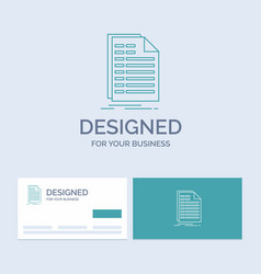 Bill excel file invoice statement business logo vector
