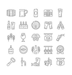 brewery icons collection vector image