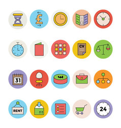 Business and Office Colored Icons 8 vector