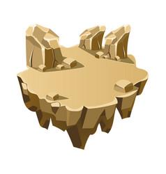 Cartoon stone isometric island for game vector