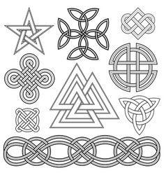 Celtic knot design elements vector