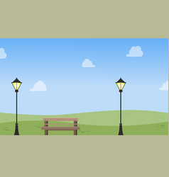 Chair with lamp landscape vector