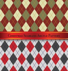 Christmas Seamless Argyle Pattern Design Set 3 vector image
