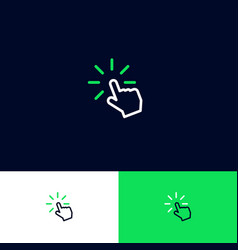 click internet icon turn on hand loading vector image