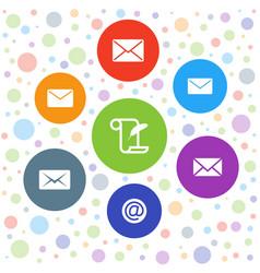 correspondence icons vector image