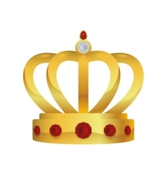 Crown royalty king queen icon graphic vector