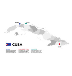 cuba map infographic template slide vector image