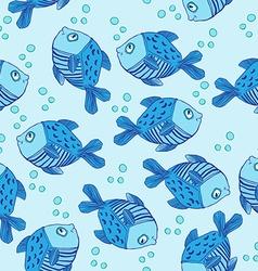 cute fish pattern vector image