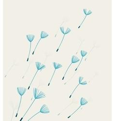 Dandelion fluff vector