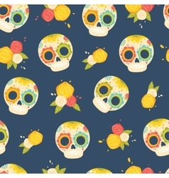 Day of the dead colorful pattern vector