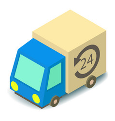 delivery truck icon isometric 3d style vector image