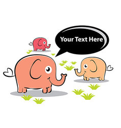 Elephants Kids vector