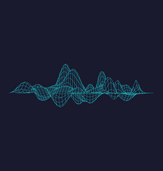 equalizer isolated abstract music graph vector image