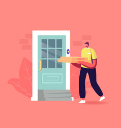 express food delivery male courier deliver pizza vector image