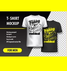 fishing is the reel deal t-shirt template fully vector image