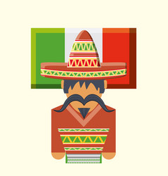 Flag of mexico design vector