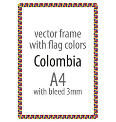 Flag v12 colombia vector