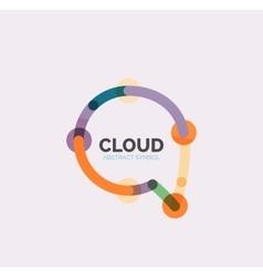Flat linear design speech cloud logo Talk bubble vector