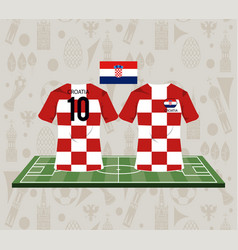 football croatia sport wear tshirt vector image