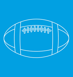 football or rugby ball icon outline style vector image