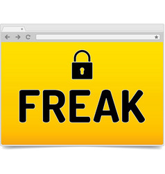 freak - factoring rsa export keys security vector image