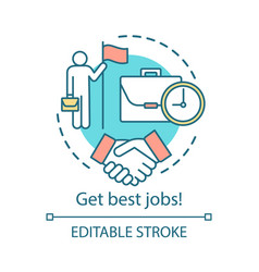 Get best jobs concept icon making agreement idea vector