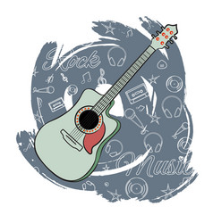 Guitar rock music-02 vector