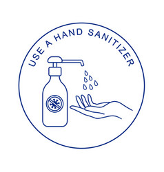 hand sanitizers washing gel alcohol gel vector image