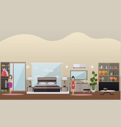 House cleaning concept flat vector