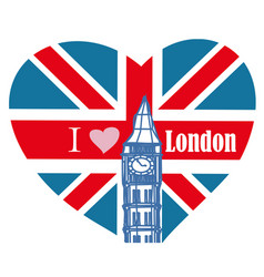 I love london - banner vector